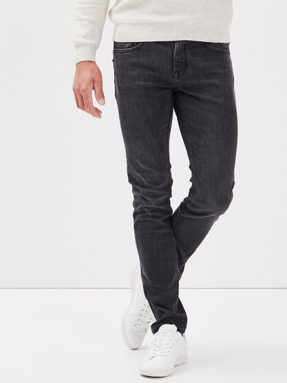 Jeans thermoregulant slim denim noir homme