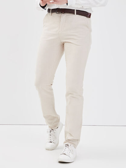 Pantalon chino eco responsable ecru homme