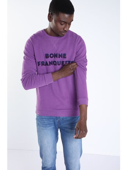 Sweat a message violet homme