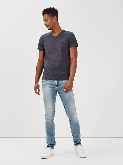 Jeans slim effet dirty denim dirty homme