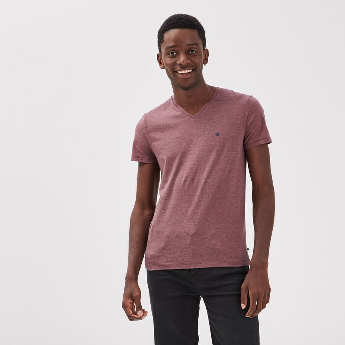 T-shirt manches courtes rose homme
