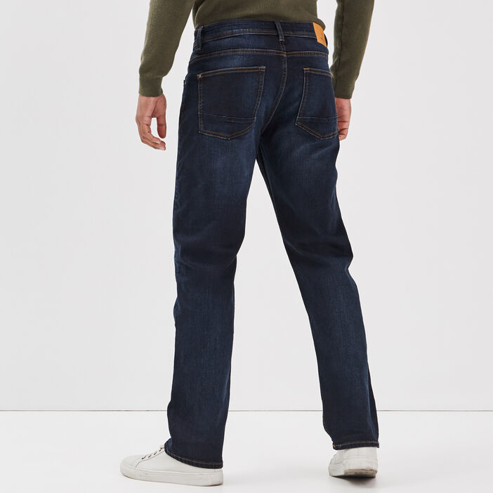 Jeans regular éco-responsable denim brut homme