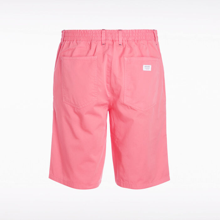 Short court à cordons rayés orange corail homme