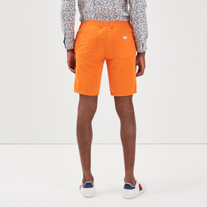 Short court à cordons rayés orange homme
