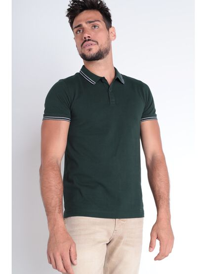Polo Instinct manches courtes vert fonce homme