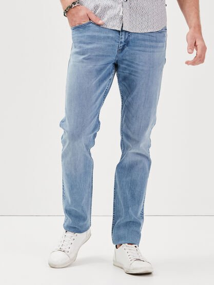 Jeans straight L34 Instinct denim bleach homme