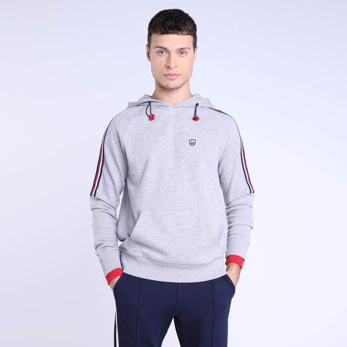 Sweat gris clair homme