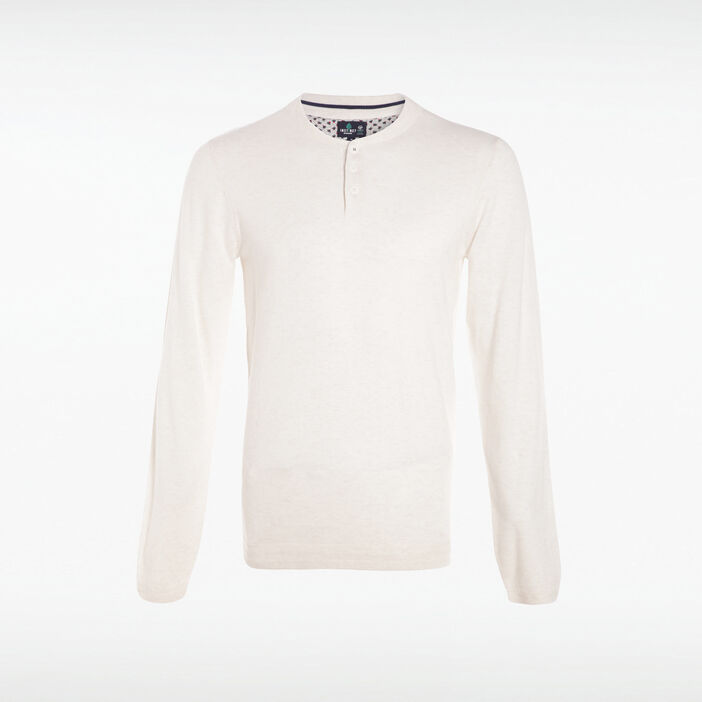 Pull manches longues Instinct ecru homme