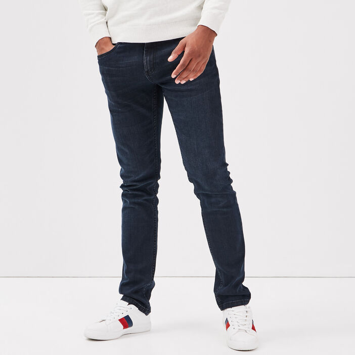 Jeans slim éco-responsable denim blue black homme