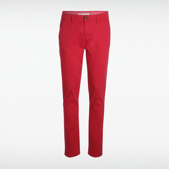 Pantalon slim Instinct rouge homme