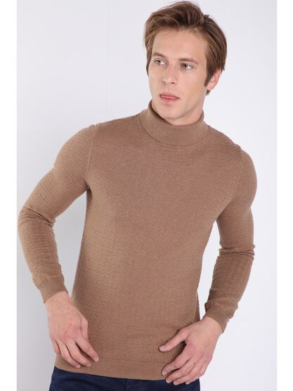 pull manches longues marron
