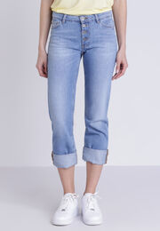 Jean regular denim used femme