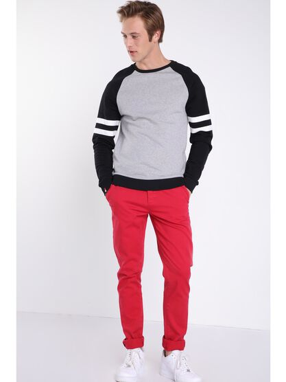 pantalon chino slim homme instinct rouge