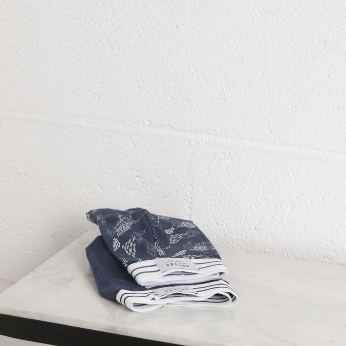 Pack 2 boxers bleu marine homme