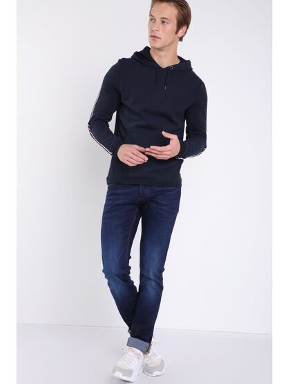 jeans slim effet used instinct denim brut