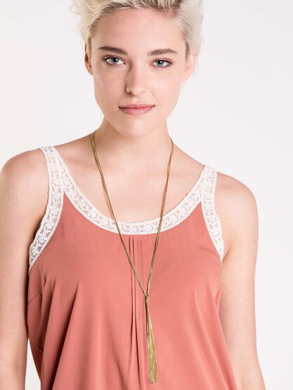 collier metal dore chainettes femme couleur or