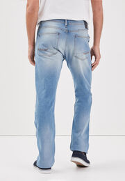 Jeans recycle denim bleach homme