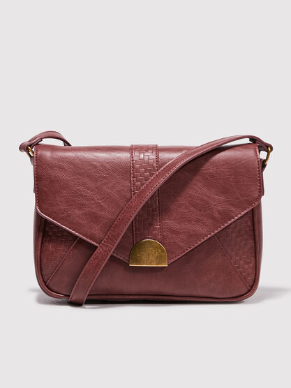 Sac besace rouge fonce femme