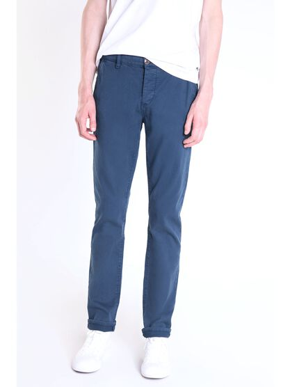 pantalon chino regular homme instinct bleu fonce