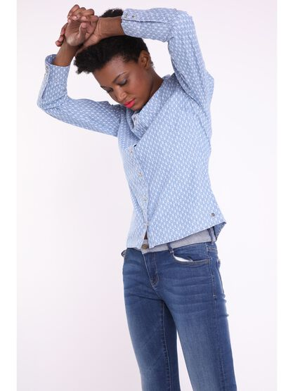 Chemise manches longues jean denim used femme