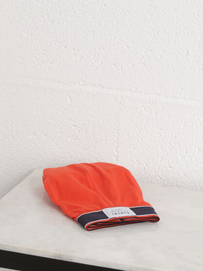 Boxer rouge corail homme