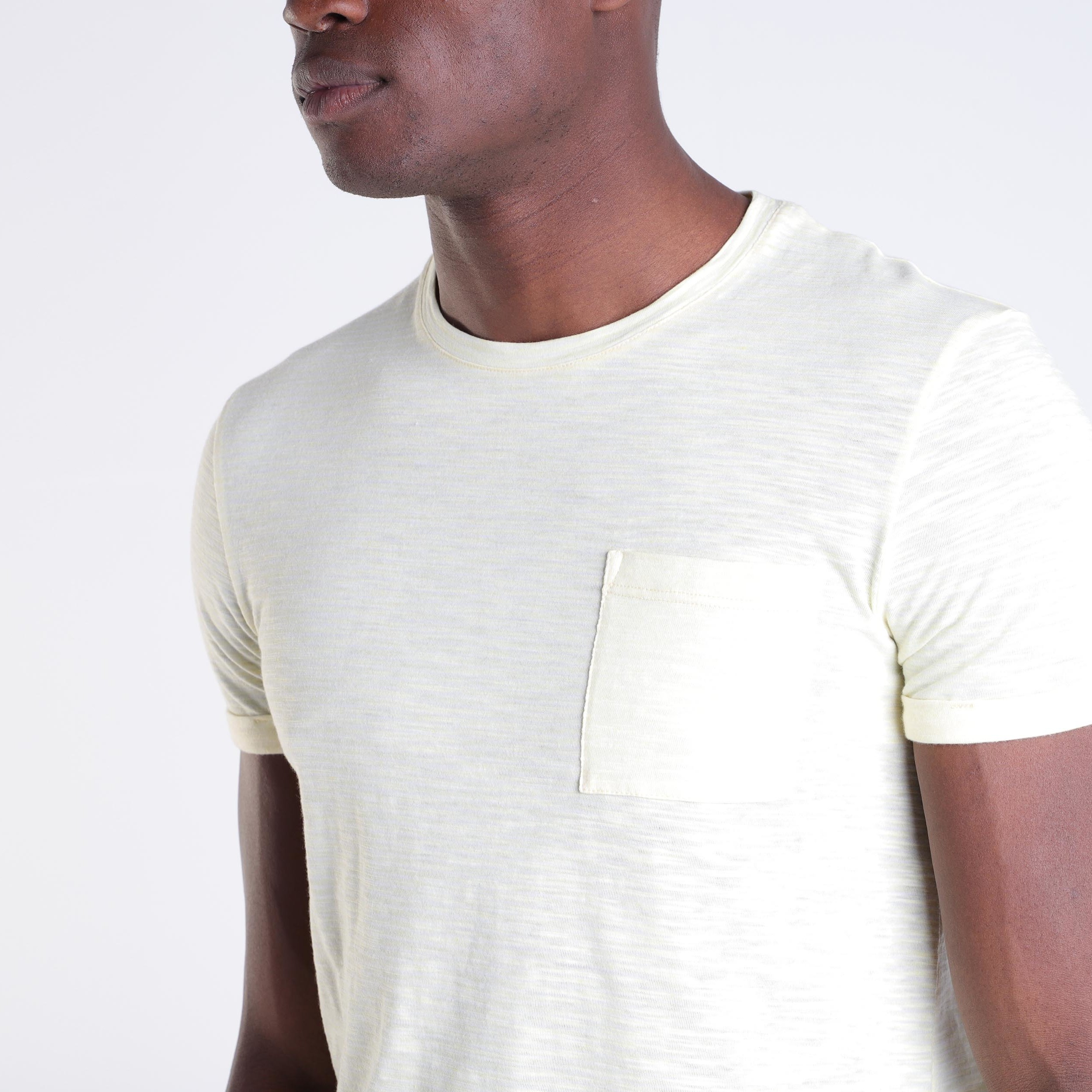 Courtes Manches Jaune T Homme Shirt Fluo Ok8nw0NPX